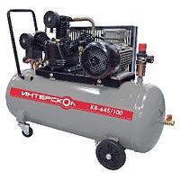 Компрессор воздушный масляный с ременным приводом Интерскол КВ-645/100 Мощность 3 кВт