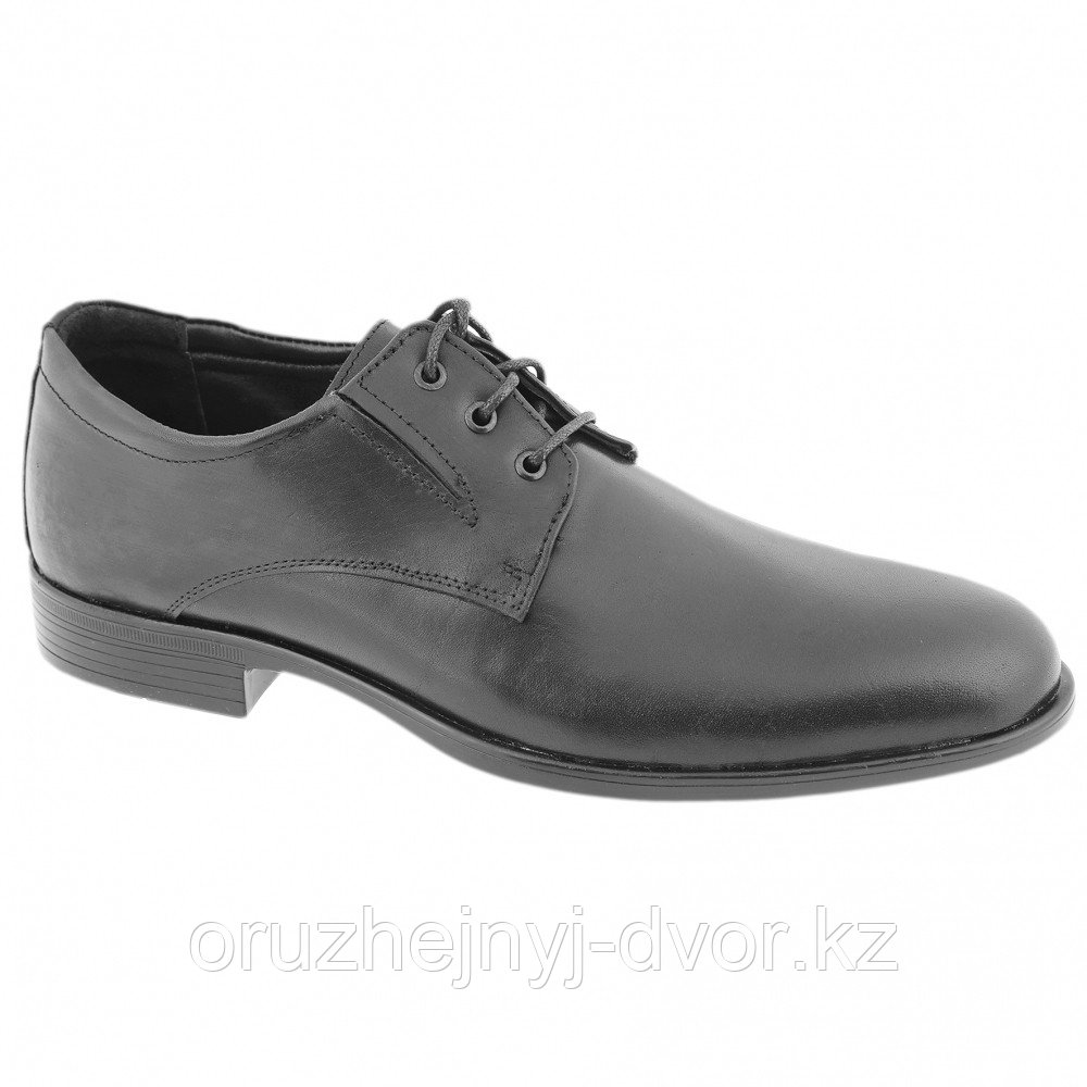 Туфли муж.кожа 8097/2WA на шнурках (черный) 9,5см, р43, 45