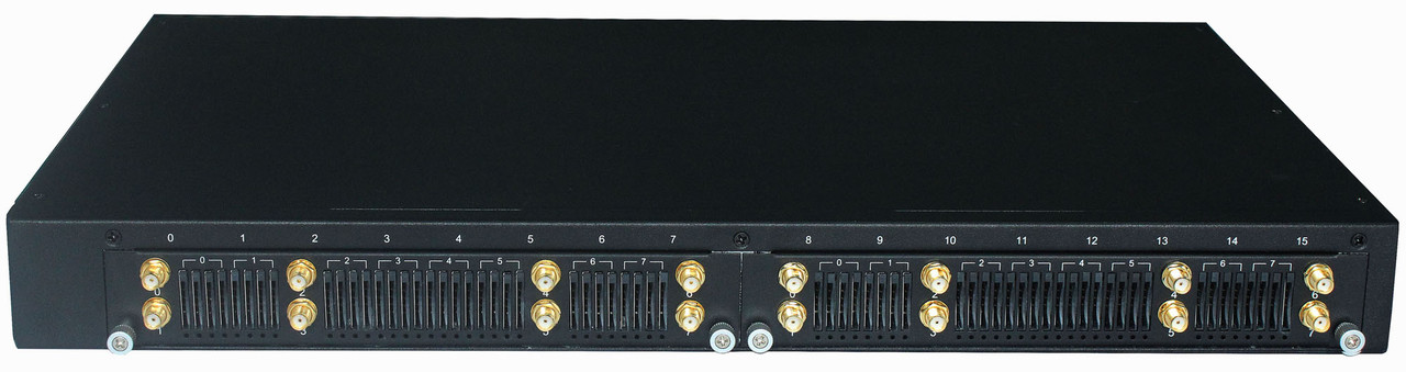 Dinstar DWG2000F-16G-V221 - VoIP-GSM шлюз, 16 GSM каналов, 64 SIM слотов, SIP