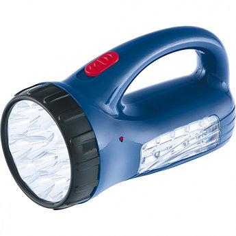 (90537) Фонарь поисковый с подзарядкой от розетки 220 В, 15+10 LED, батарея 800 мАч// Stern