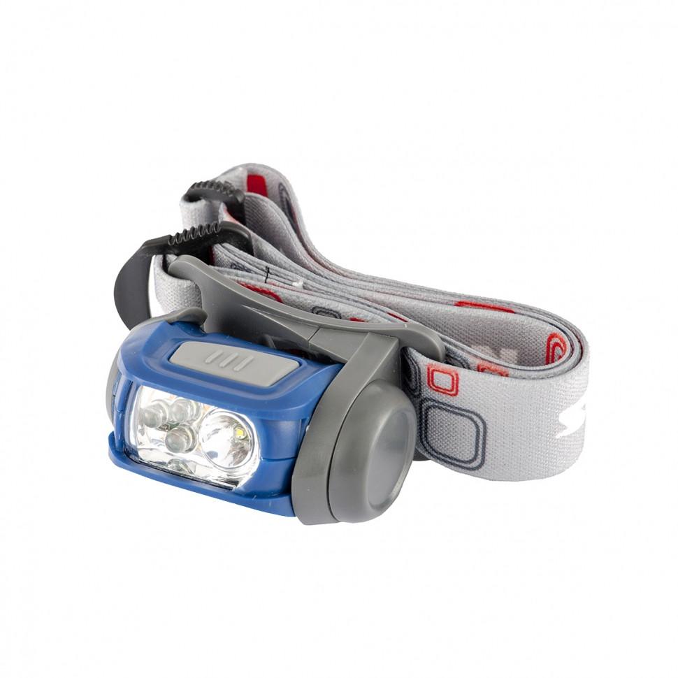 (90569) Фонарь налобный Sport, ABS пластик, CREE XP-E LED 3 Вт 120 лм + 3 эко LED, 8-18 часов, 3хААА