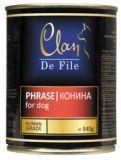 Clan De File 340г с кониной консервы для собак