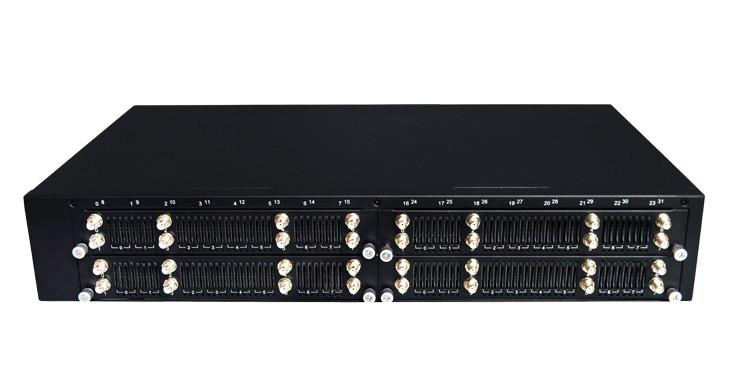 Dinstar DWG2000G-32G-V221 - VoIP-GSM шлюз, 32 GSM канала, расширение на 128 SIM слотов, SIP