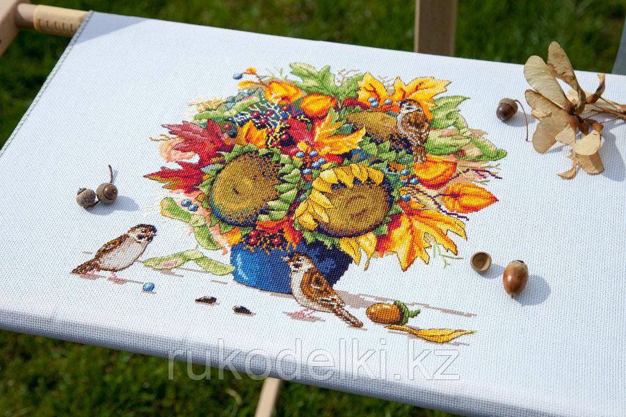 """Набор для вышивания крестом """"Осенний букет с подсолнухами"""""""