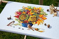 """Набор для вышивания крестом """"Осенний букет с подсолнухами"""", фото 1"""