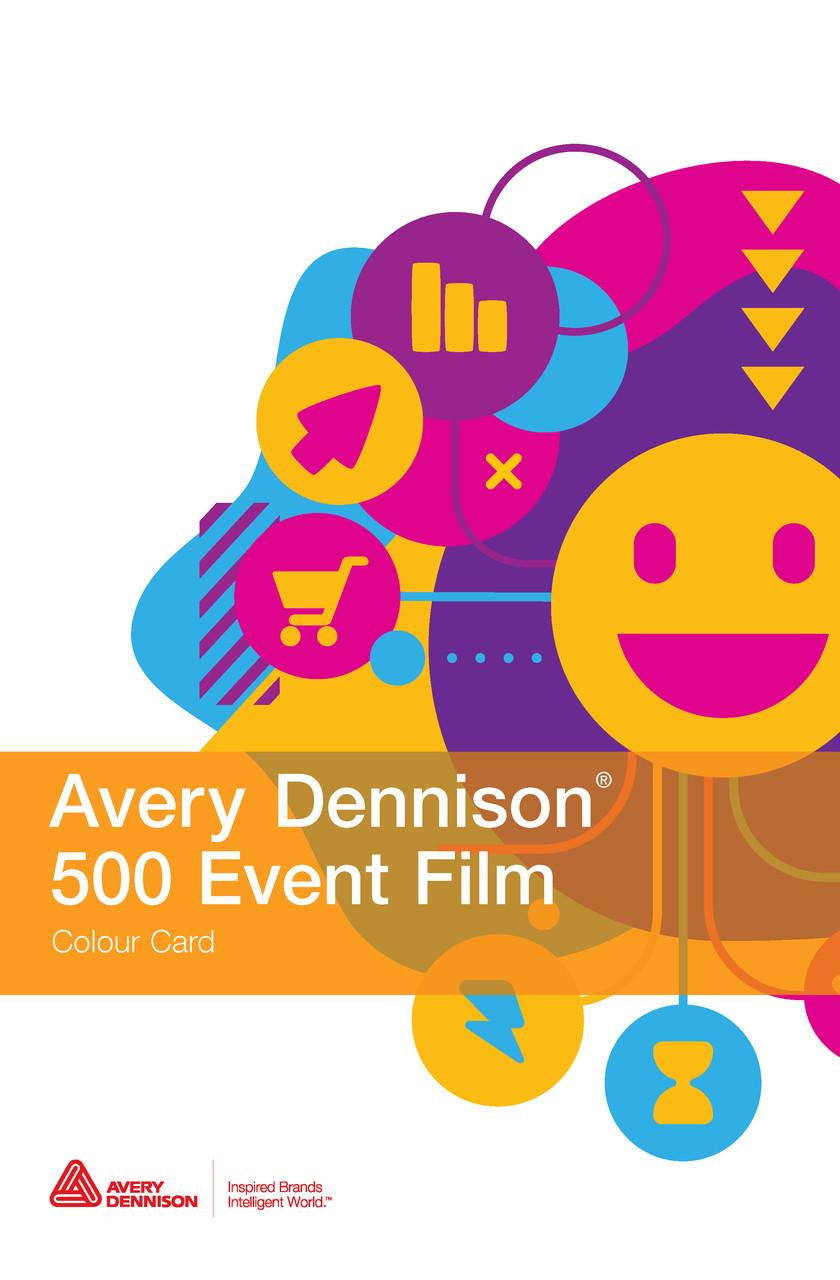 Каталог цветов пленок AVERY 500 Event Film