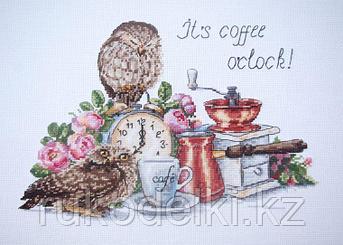 """Набор для вышивания крестом """"Время пить кофе"""""""