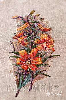"""Набор для вышивания крестом """"Винтажные лилии"""" (на канве)"""