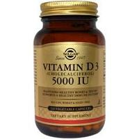 Solgar, Витамин D3 (Cholecalciferol), 5000 МЕ, 120 капсул
