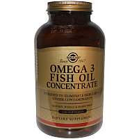 Омега-3 рыбий жир концентрат, 240 капсул. EPA 160 мг. / DHA 100 мг. в 1 капсуле. Solgar