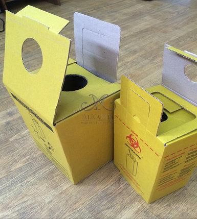 Контейнеры для утилизации медицинских отходов класс Б и В. 5 литров, фото 2