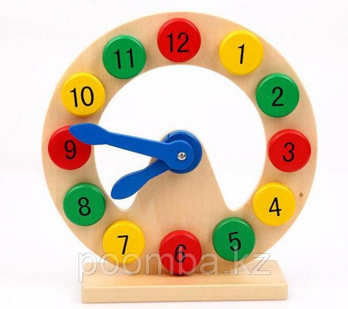 Деревянная игрушка часы-сортер