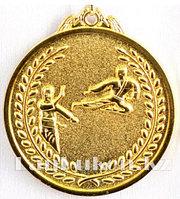 Медаль рельефная Каратэ (золото)