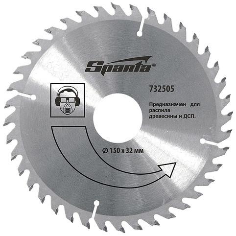 (732395) Пильный диск по дереву, 125 х 22мм, 36 зубьев// SPARTA