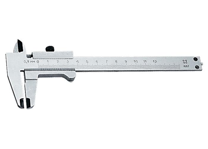 (31660) Штангенциркуль, 125 мм, цена деления 0,1 мм,  класс 2, ГОСТ 166-89 (Эталон)// Россия