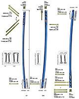 Универсальный внутрикостный неканюлированный бедренный стержень правый / левый титановый/ стальной диаметром