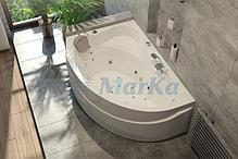 Акриловая ванна Катанья 160*100 (Левая) (Полный комплект) Ассиметричная. Угловая, фото 3