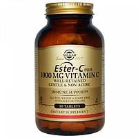 Solgar, Ester-C Plus, 1000 мг витамина С, 90 таблеток.