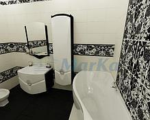 Акриловая ванна Грация 170*100 (Левая) (Полный комплект) Ассиметричная. Угловая, фото 3