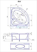 Акриловая угловая ванна Ибица (150*150) (Полный комплект), фото 2