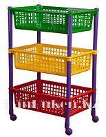Контейнер для игрушек на колесах 440*310*700 см 36000 (003)