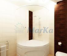 Акриловая угловая ванна Трапани 140*140 (Полный комплект), фото 3