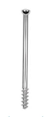 Винт спонгиозный диаметром 6.5 мм, с длиной резьбы 16 мм