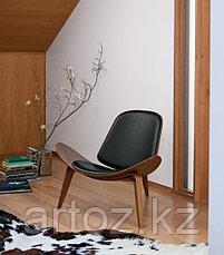 Стул Shell dark wood (black), фото 2