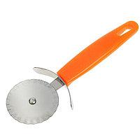 Нож для пиццы и теста ребристый, оранжевый