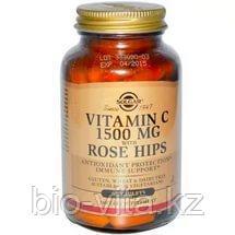 Solgar, Витамин C, с шиповником, 1500 мг, 90 таблеток