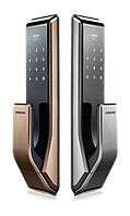 Электронный дверной замок с ручкой PUSH-PULL Samsung SHS-P717