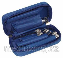 Ларингоскопы для экстренной медицины серии ЛЭМ-02/Л лампочные  детские (рукоять+4 клинка)