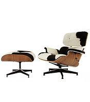 Кресло Eames lounge skin (black\white)