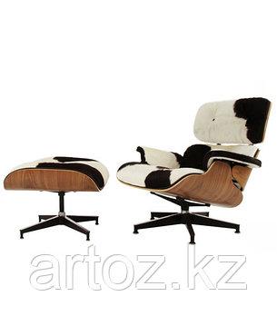 Кресло Eames lounge skin (black\white), фото 2