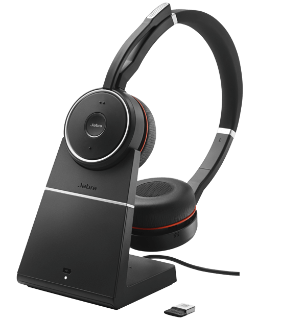 Bluetooth гарнитура с зарядным устройством Jabra Evolve 75 (UC)