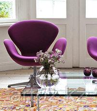 Кресло Swan chair velvet (red), фото 3