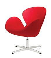 Кресло Swan chair velvet (red)