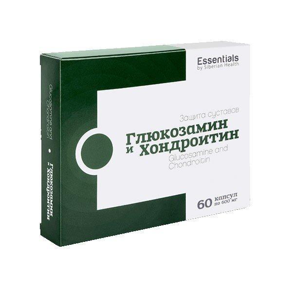 Глюкозамин и хондроитин Essentials By Siberian Health