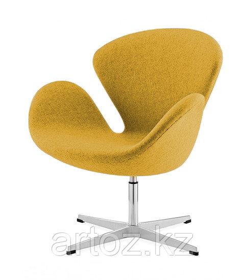 Кресло Swan chair cashemere (mustard