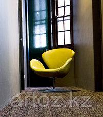 Кресло Swan chair cashemere (mustard, фото 2