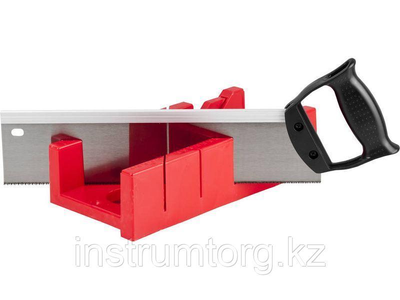 """Набор ЗУБР """"МАСТЕР"""": Стусло пластмассовое + ножовка с пластиковой рукояткой с усиленным обушком"""