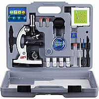 Микроскоп детский 28 предметов 300х-900х-1200х в кейсе, фото 1
