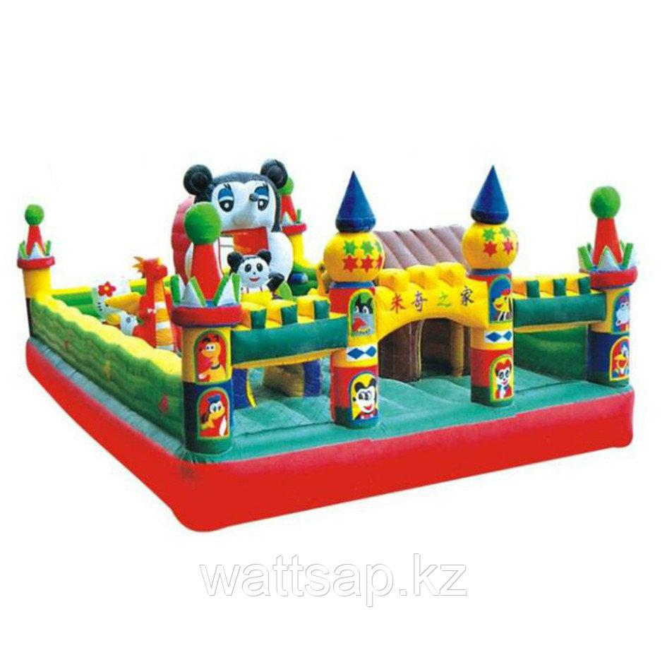 """Уличный надувной батут """"Замок Микки"""" H-4702, 8*5*3 м"""