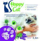 Happy Cat 3,8л (1,7кг) Лаванда Силикагелевый наполнитель для кошачьего туалета