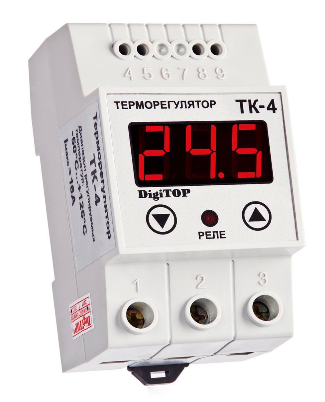 Терморегулятор ТК-4 (–50,0… 125,0°C, 16А)