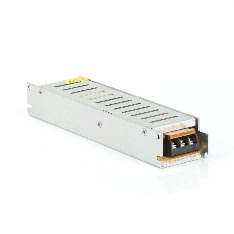 Блок питания для светодиодной ленты 100W(8.3A) (узкий) DC12V, IP20