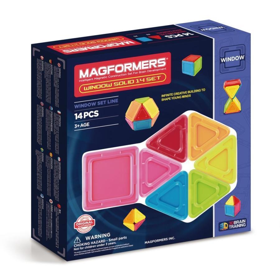 Magformers Магнитный конструктор Набор Window Solidt из 14 элементов
