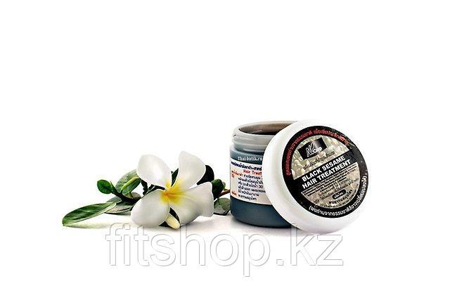 Лечебная маска  для волос на основе кунжутного масла и черных водорослей (ЗНАМЕНИТАЯ ЧЕРНАЯ МАСКА)