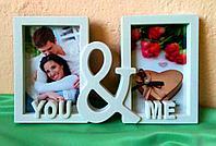 """Фоторамка """"You&Me"""" на 2 фото"""