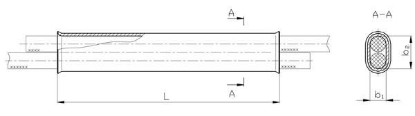 Зажим соединительный СОАС: СОАС-70-3, СОАС-95-3, СОАС-120-3, СОАС-150-3